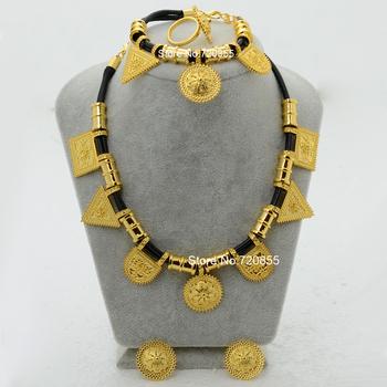 Новое поступление эритрея habesha эфиопские комплект ювелирных изделий серьги браслета ...