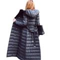 2016 Winter Women Long White Duck Ultralight Down Jacket Hooded Padded Slim Down Coat With Belt