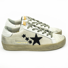 Italy Deluxe Brand CANGMA Women Men Golden Shoes Basse White Genuine Leather Hemp SSTAR Casual Goose Shoes Uomo Blanche Sapatos(China (Mainland))