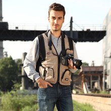 New High Quality Outdoor Multi-pocket Photography Vest Men's Sleeveless Waistcoat 3 Colors Vest Size L-XXL(China (Mainland))