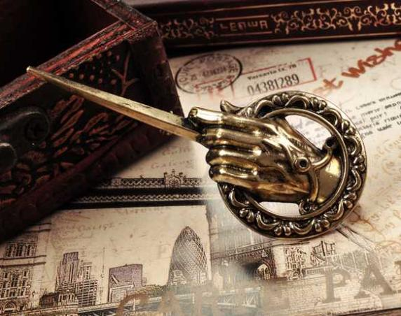 Free Shipping For Game of thrones hand of the king Lapel Replica Vintage costume pin brooch(China (Mainland))