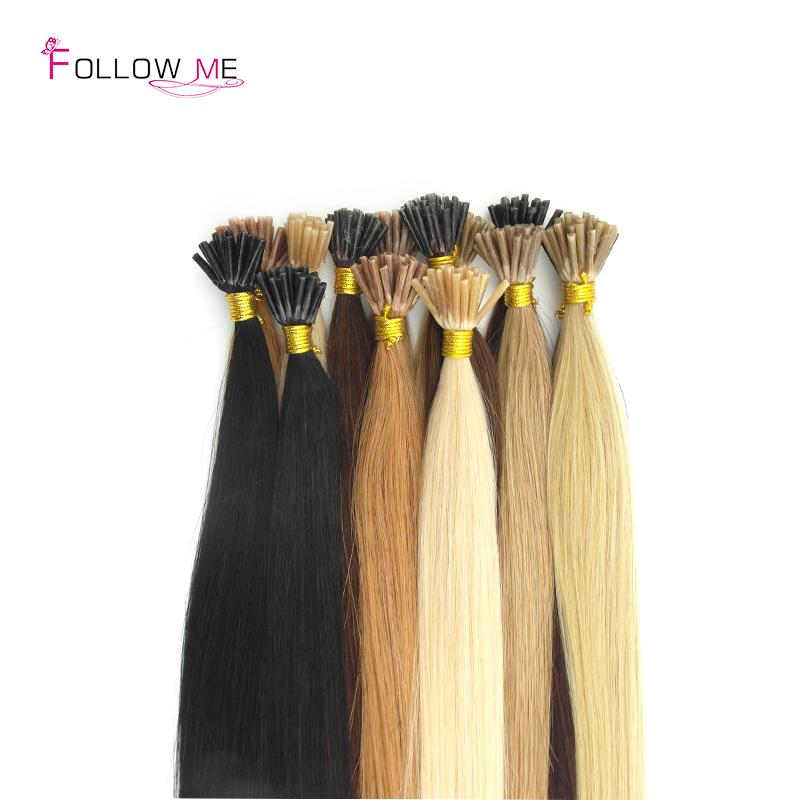 100% Indian Human Hair Keratin Extension 200g Stick Tip Hair Extensions 1g/strand(China (Mainland))