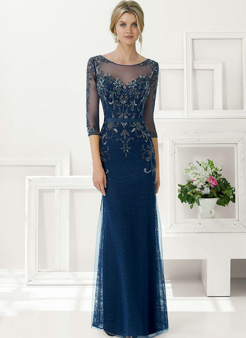Navy Blue Mother of the Bride Groom Dresses
