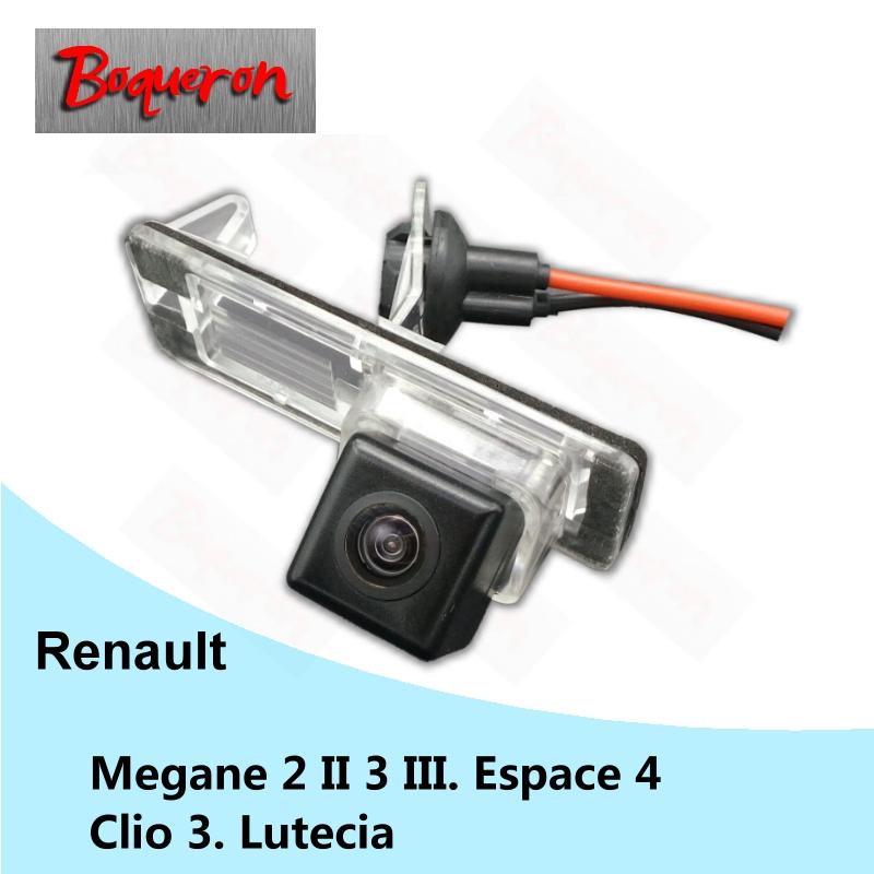 BOQUERON for Renault Megane 2 II 3 III Espace 4 Clio 3 Lutecia HD CCD Waterproof Car Camera reversing backup rear view camera(China (Mainland))