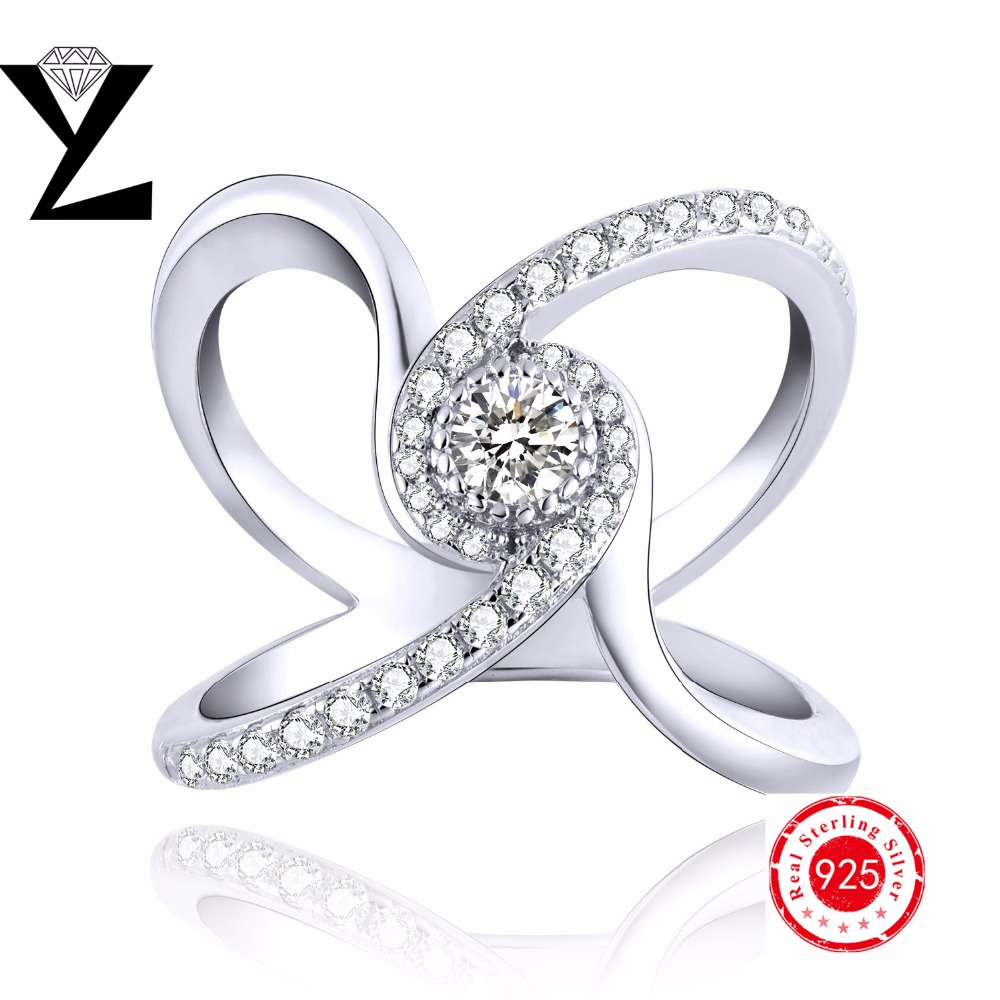 2016 Fashion jewelry Women ring wedding sweet love style with 925 sterling silver wedding ring AAA Cubic Zirconia ring wholesale(China (Mainland))