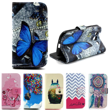 Leather Wallet Magnet Case For Samsung Galaxy S3 Neo Case Flip Cover Butterfly Samsung Galaxy S3 Case Dream Catcher Card Holder(China (Mainland))