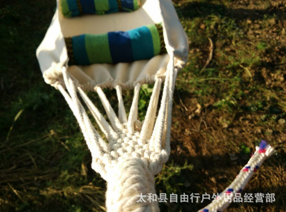 Hot Selling Outdoor New Double White Canvas Hammock Camping Survival Hammock Parachute Cloth Outdoor Or Indoor 280*80cm 1pcs(China (Mainland))