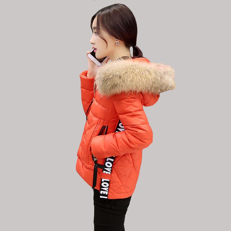 2016 Winter New Korean Stitching Nagymaros Fur collar Hooded Down Jacket Short Coat  Women Warm Parkas manteau femme JY-1157