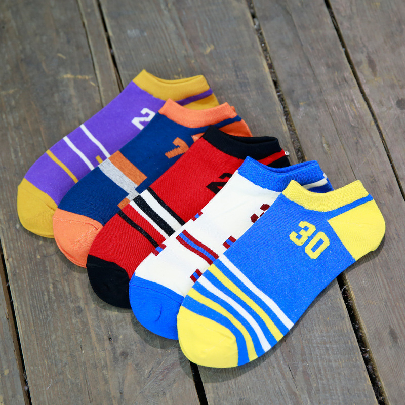 20Pairs/Lot New spring and summer fashion men's classic Basketball Jersey boat socks factory explosion trend(China (Mainland))