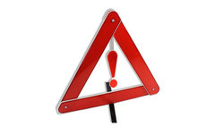 Warning triangle tripod parking car warning signs reflective safety stop sign(China (Mainland))
