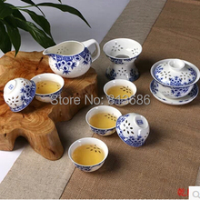 new design traditional bone china tea set ceramic gaiwan tureen 6pcs tea cup with tea tray