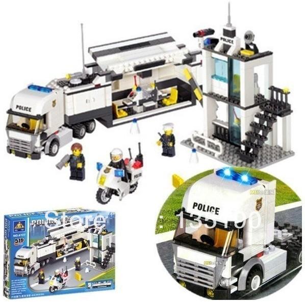 Christmas gift Enlighten Child 6727 educational toys Police Truck KAZI DIY toys building block sets,children toys free Shipping<br><br>Aliexpress