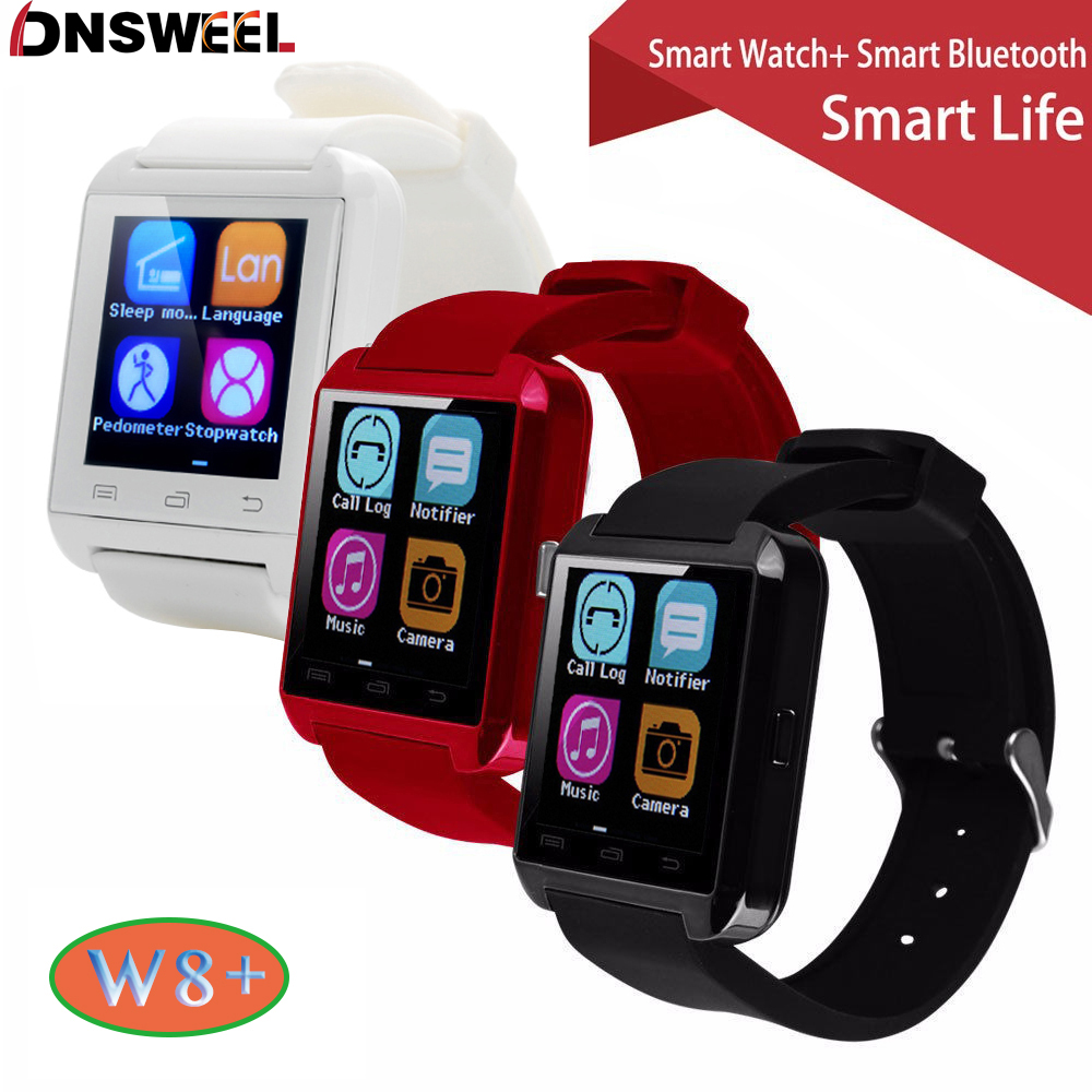 100% Original Gooweel W8+ Bluetooth Smart Watch Sport for iPhone 4/4S/5/5S/6/6+ IOS for Samsung Note/s6 Android Phone Smartwatch(China (Mainland))