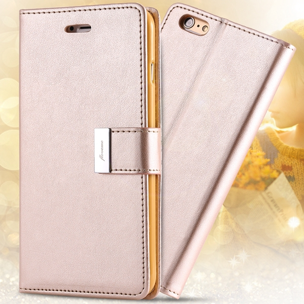 I6/6 Plus Luxury Original Brand Case PU Leather Cover With Card Bag For Iphone 6 4.7inch / 5.5inch Plus Full Protect Wallet Case(China (Mainland))