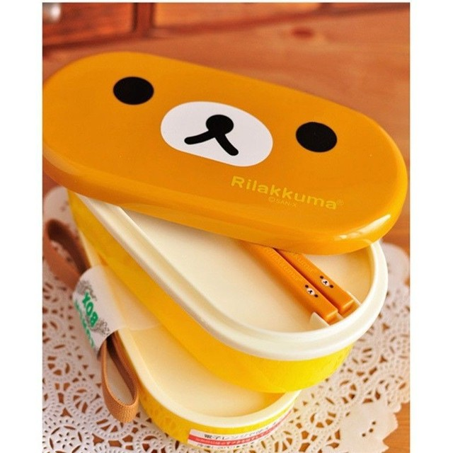 Microwave Rilakkuma Lunch Box for Children