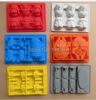 hot 6x Silicone Star Wars Darth Vader Storm Trooper R2D2 Falcon X-Wing Hans Solo Silicone Mold Ice Cube Tray Chocolate Fondant