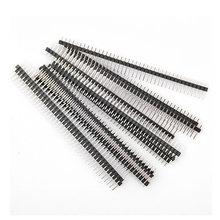 86075 Free shiiping Hot Sale10pcs 40 Pin 1x40 Single Row Male 2.54mm Breakable Pin Header Connector Strip(China (Mainland))
