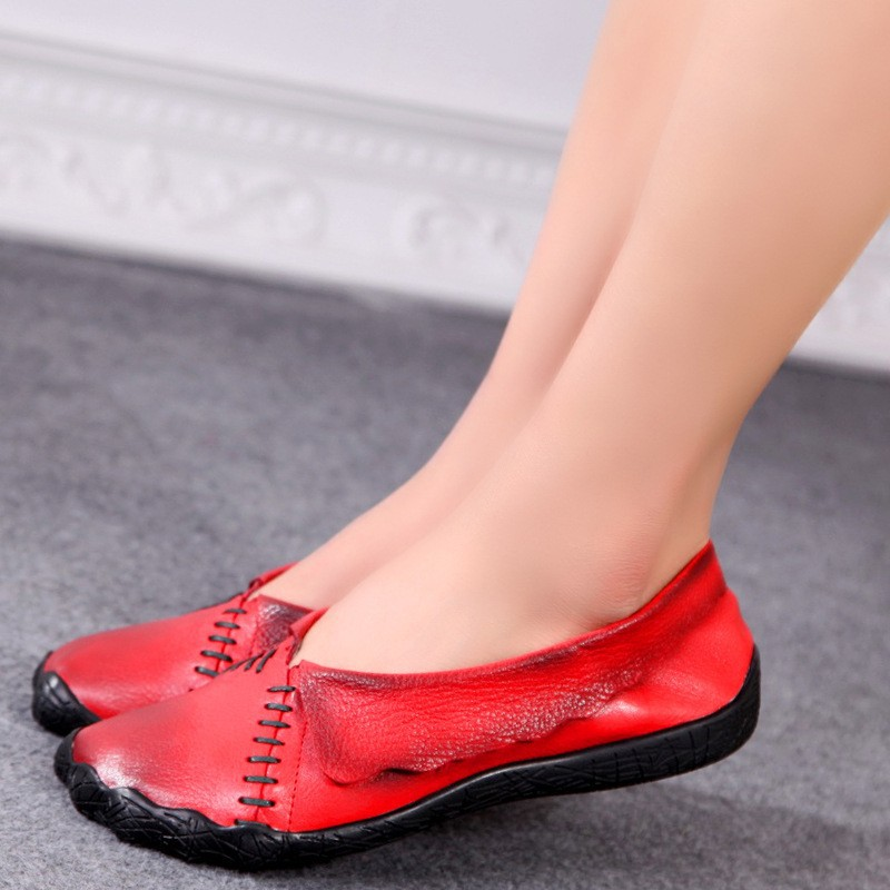 Fashion designer  flats womens summer shoes Driving shoes genuine leather Sandals comfortable woman casual outdoor shoes