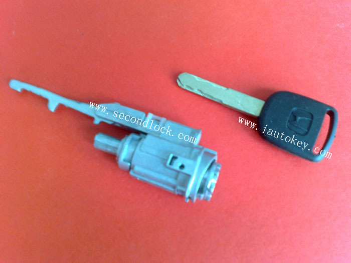 car door lock ignition cylinder for Honda with black key no chips inside(China (Mainland))