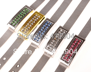 10pcs Hand ring transmission line usb flash rystal metal bracelet fashion wrist band usb flash memory drive thumb/car/pen drive