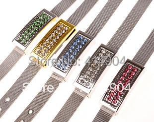 Hand ring transmission line usb flash usb crystal metal bracelet fashion wrist band usb flash memory drive thumb/car/pen drive