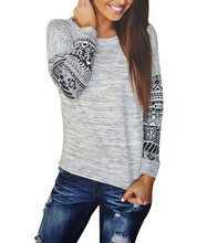 Women Long Sleeve Loose Printed Knitted Sweater Jumper Knitwear Outwear Loose Casual Women Sweaters(China (Mainland))