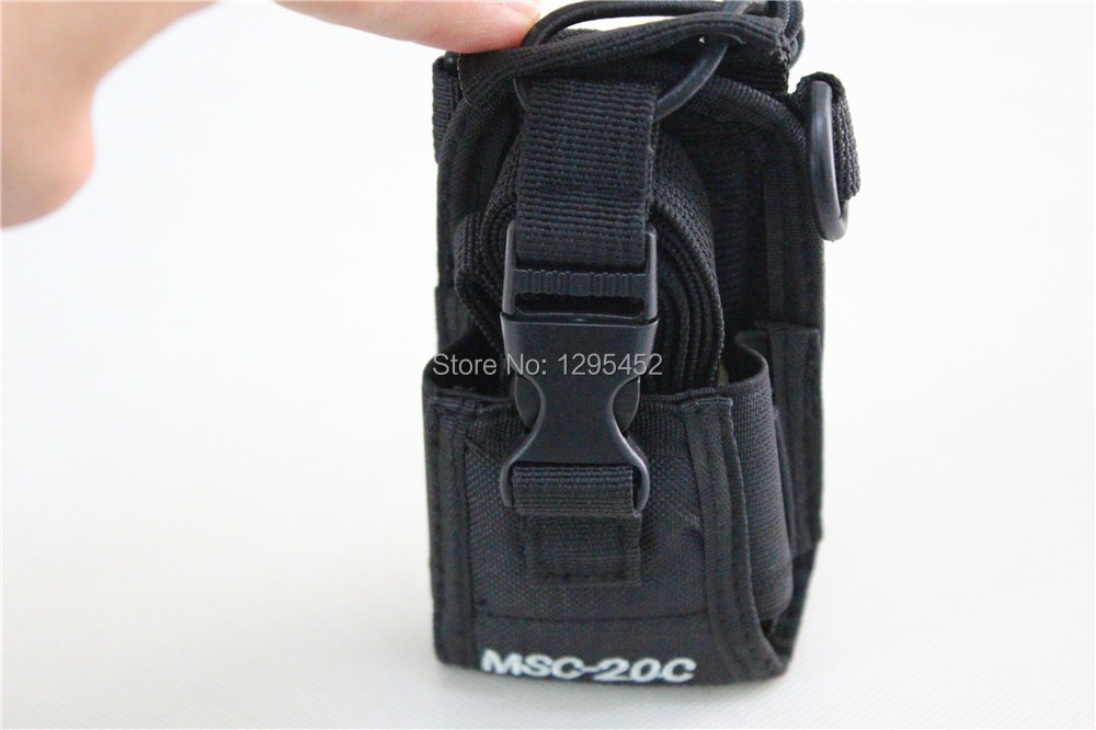 Multifunction Radio Case Holder MSC-20C Soft Nylon Carry Case For Walkie Talkie GP328 PX777 TK3207 TC700 UV-5R UV-B5 BF-888S(China (Mainland))