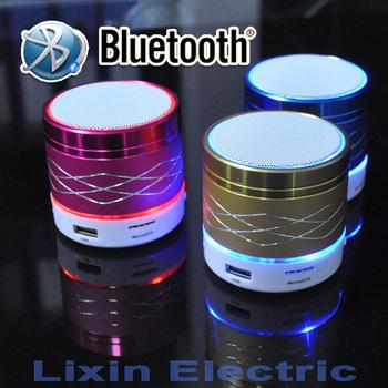 Sa20 из светодиодов свет портативный мини металл стали беспроводной bluetooth-спикер музыка усилитель с FM радио поддержка SD карта