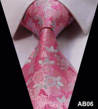 TF2014N Dark Blue Orange Floral 100% Silk New Hot Jacquard Woven Classic  Man's Tie Necktie(China (Mainland))