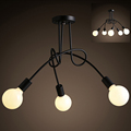 Free shipping Simple Creative Black white E27 ceiling lamp vintage personality modern brief led ceiling light
