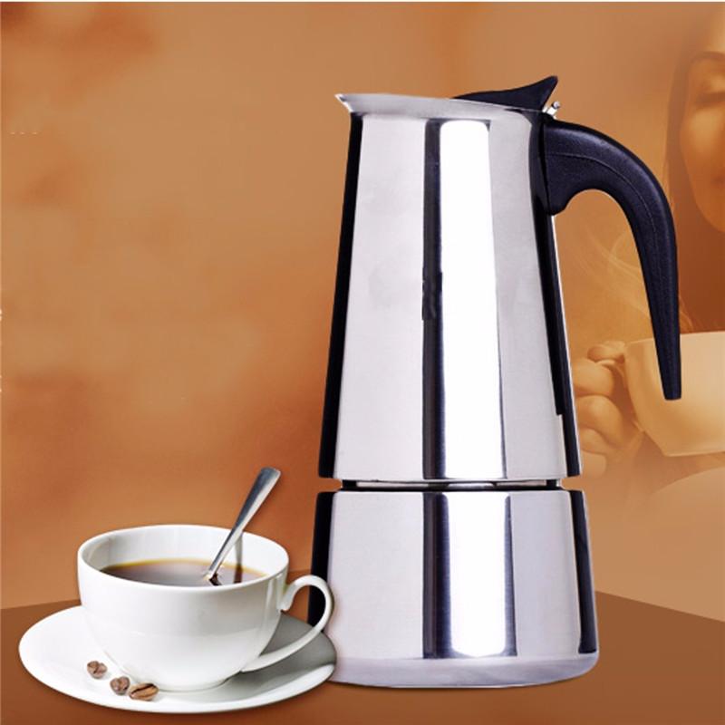 Best Promotion!!100/200/300ml Italian Stainless Steel Espresso Maker Kitchen Drip Kettle Tea Pot Moka Coffe Pot Coffee Extractor(China (Mainland))