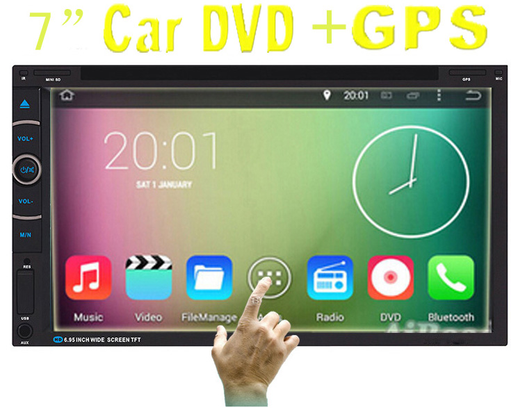 2016 New! universal Car Radio Double 2 din Car DVD Player In dash Car PC Stereo Head Unit video with gps(China (Mainland))