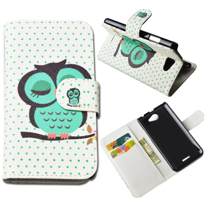 Printing Leather Cover For HTC Desire 516 D516w Dual SIM Wallet Case With Stand and Card Holder 10 Colors in Stock(China (Mainland))