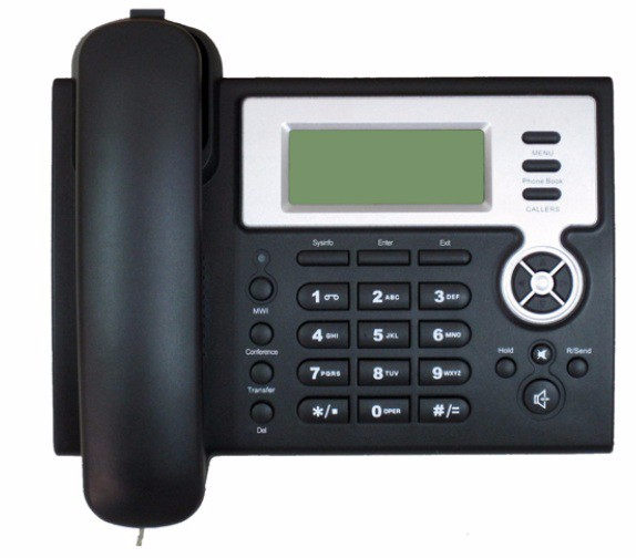 2 SIP Phone with LCD Compatibility with SIP softswitch, IP PBX system For VoIP service business IP Phone(China (Mainland))