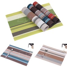 F85 Free Shipping PVC Waterproof Placemat Insulation Mat Table Pad Coaster Kitchen Dining Decor(China (Mainland))