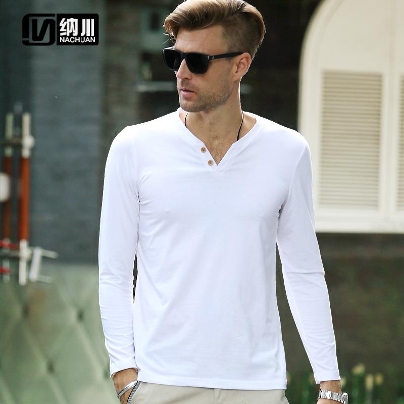 6 Colors Long Sleeve T Shirt Men Slim Fit Spring Cotton Casual T-Shirt mens New Style Classic Sport T Shirts men Plus Size M-4XL(China (Mainland))
