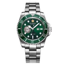 MG. ORKINA Male Wristwatch SEIKO-made Automatic Movement Mechanical Watch Date Display Luminous Ceramic Rotatable Bezel Horloge(China (Mainland))