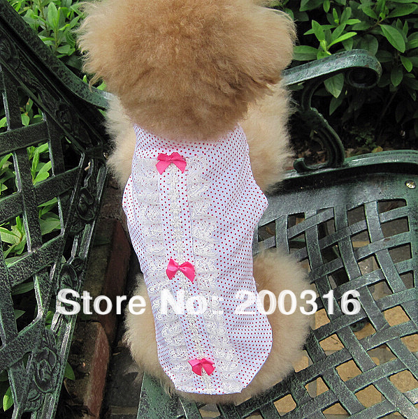 New Cute Fresh With Little Point  dogs vest Free Shipping 2013 new design