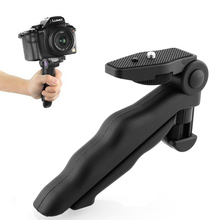 Hot High Quality Portable Flexible 2 in 1 Handheld Grip Mini Tripod Stand for Digital Camera Camcorder(China (Mainland))