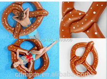 Funny Inflatable Pretzel Float Toy Summer Entertainment Water Sport 1.5m PVC Ride-On Pool Floating Gift Swimming Ring Life Buoy(China (Mainland))