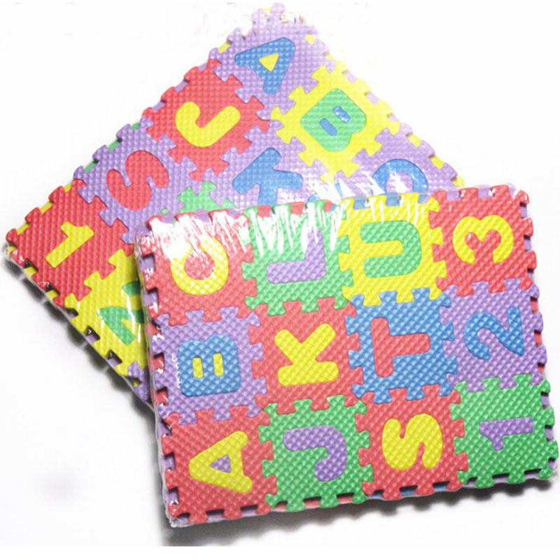 36pcs Educational Kids Mini Puzzle Play Mats, Alphabet Letters Numbers Baby Game Children Gift Interlocking Soft EVA Foam Toy