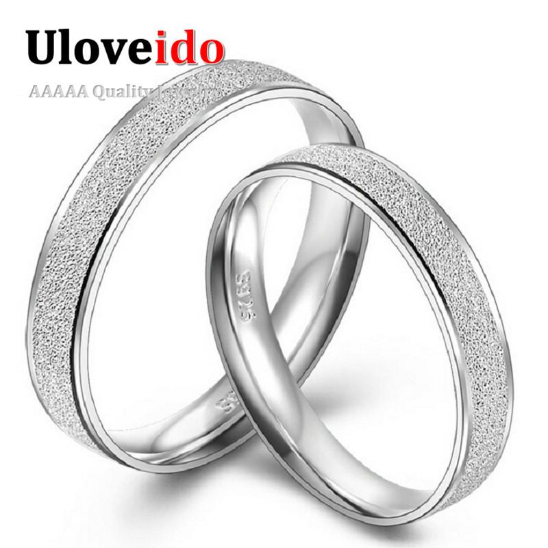 Engravable Fashion Designer Simple Wedding Rings Pair ...