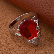 2015 Lot Sale Woman Wedding 925 Silver Ring Anel for Rings for Women Bague Simulated Ruby