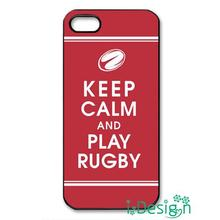Fit for Samsung Galaxy mini S3/4/5/6/7 edge plus+ Note2/3/4/5 back skins cellphone case cover Keep Calm and Play Rugby