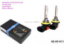 2PC X HID Xenon Bulb H1 H3 H7 H8 H9 H11 9005 HB3 new type in 2016 UV Tube Super Bright(China (Mainland))
