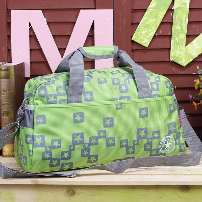 hot fashion large capacity Nylon star unisex messenger sport bag male travel business gym bag female