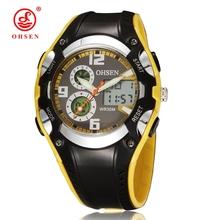 Fashion OHSEN Brand Digital Sports Watches Children Boys Waterproof Black Rubber Band Wristwatch Popular Military Watch for Gift(China (Mainland))