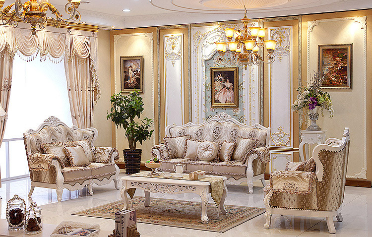 european style luxury villa living room sofa sofa leather sofa fabric french neoclassical living. Black Bedroom Furniture Sets. Home Design Ideas