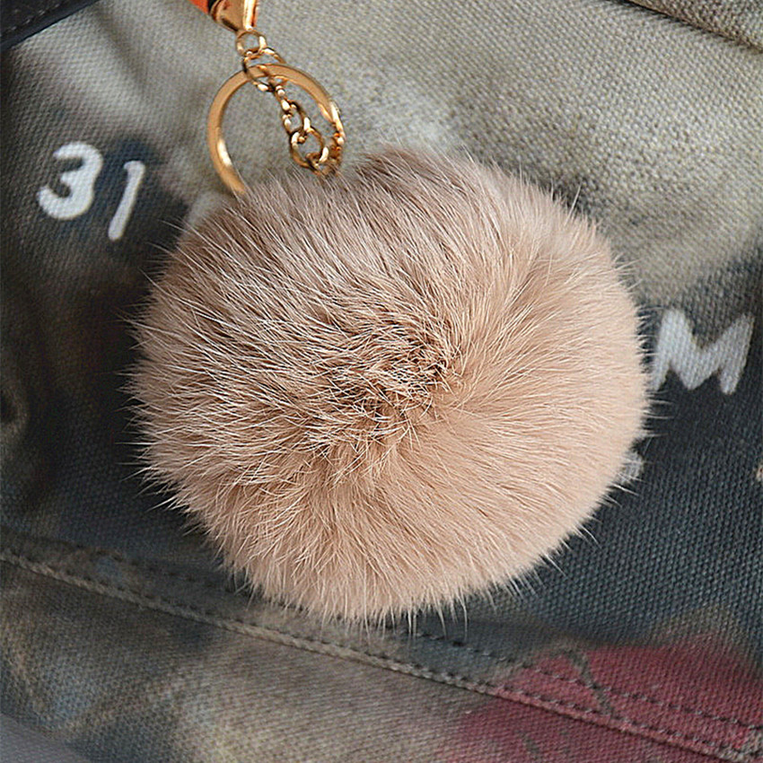 New Real Rex Rabbit Fur Ball Key Chain Bag Pendant Ring Accessories Women Lady Fashion Nice 11496<br><br>Aliexpress