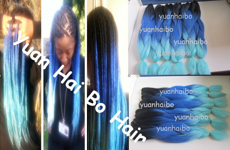 Stock! bottom price super quality 20  three tone color ombre kanekalon braiding hair for black women fast&amp;free shipping<br>
